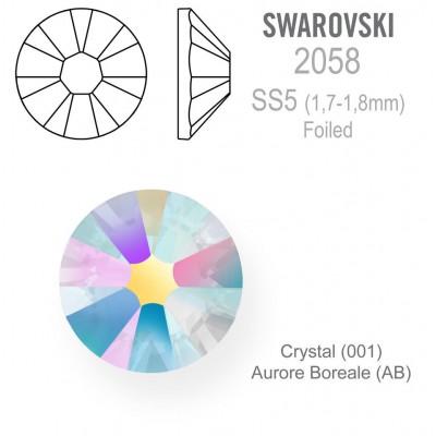 SWAROVSKI Crystal AB  vel. SS5