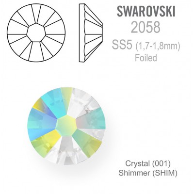 SWAROVSKI Crystal Shimmer vel. SS5