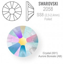 SWAROVSKI Crystal AB  vel. SS8