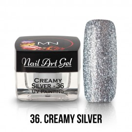 UV Painting Nail Art Gel - 36 - Creamy Silver 4g