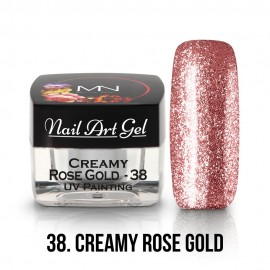 UV Painting Nail Art Gel - 38 - Creamy Rose Gold 4g