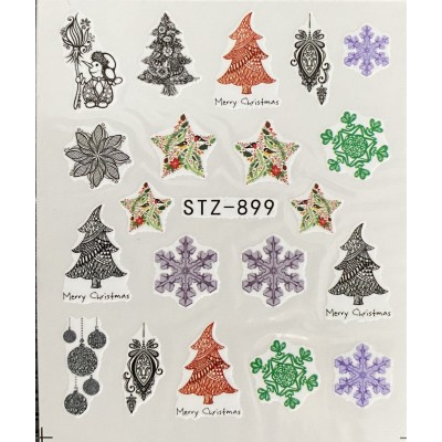Vánoční vodolepky -STZ 899