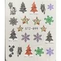 Vánoční vodolepky - 899