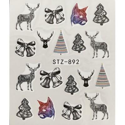 Vánoční vodolepky -892