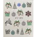 Vánoční vodolepky - 893