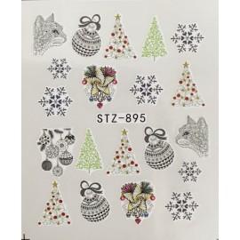 Vánoční vodolepky - 895