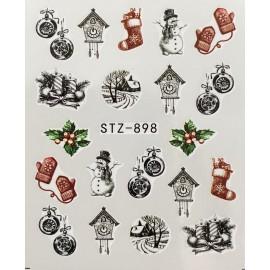 Vánoční vodolepky - 898