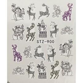Vánoční vodolepky - 900