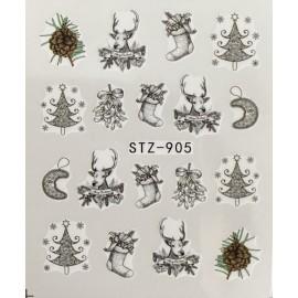 Vánoční vodolepky - 905