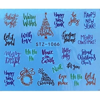 Vánoční vodolepky - 1066