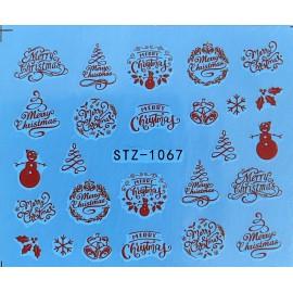 Vánoční vodolepky - 1067