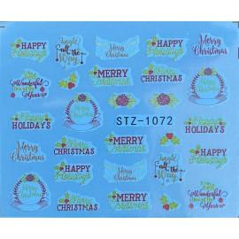 Vánoční vodolepky - 1072
