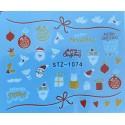 Vánoční vodolepky - 1074