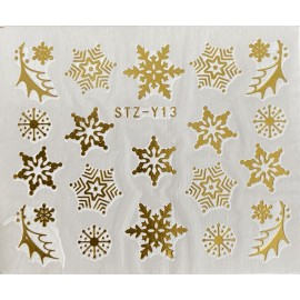 Vánoční zlaté vodolepky - GY13