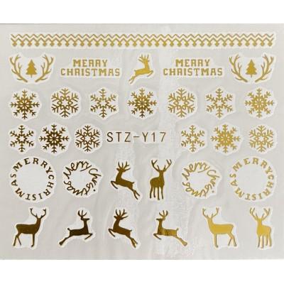 Vánoční vodolepky - GY17