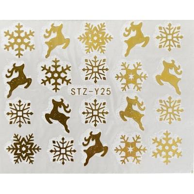 Vánoční vodolepky - GY25