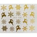 Vánoční zlaté vodolepky - GY25