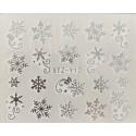 Vánoční stříbrné vodolepky - SY12