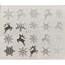 Vánoční vodolepky - SY25