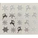 Vánoční stříbrné vodolepky - SY25