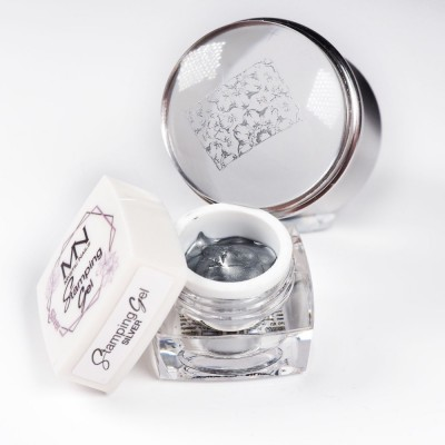 Stamping gel - stříbrný