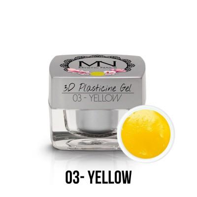 3D Plasticine Gel - 03. Yellow  3,5g