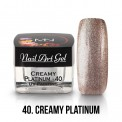UV Painting Nail Art Gel - 40 - Creamy Platinum 4g