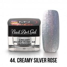 UV Painting Nail Art Gel - 44 - Creamy Silver Rose 4g