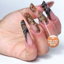 UV Painting Nail Art Gel - 46 - Creamy Bronze Rose 4g