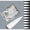 Stiletto tipy -  60ks - white