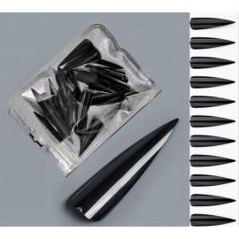 Stiletto tipy -  60ks - black