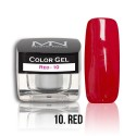 Color Gel - 10. Red 4g