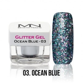 Glitter Gel - 03. Ocean Blue 4g