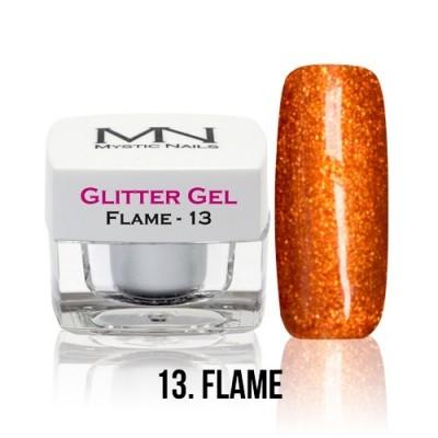 Glitter Gel - 13. Flame - 4g