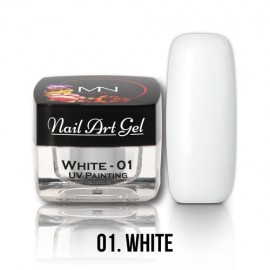 UV Painting Nail Art Gel - 01 - White  4g