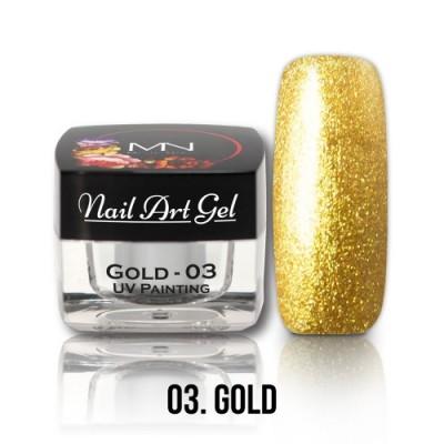 UV Painting Nail Art Gel - 03 - zlatý - 4g