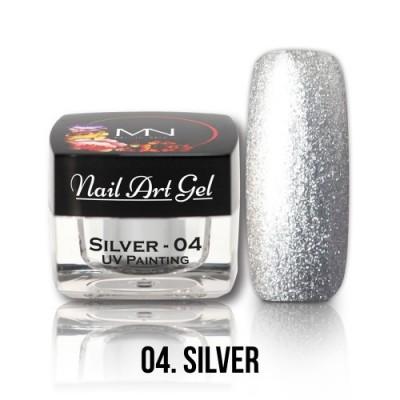 UV Painting Nail Art Gel - 04 - stříbrný - 4g