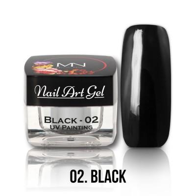 UV Painting Nail Art Gel - 02 - černý - 4g