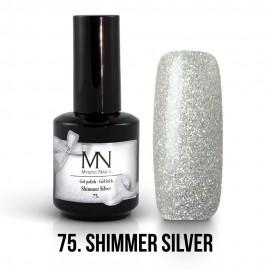 ColorMe! gel lak - 75. Shimmer Silver 12ml
