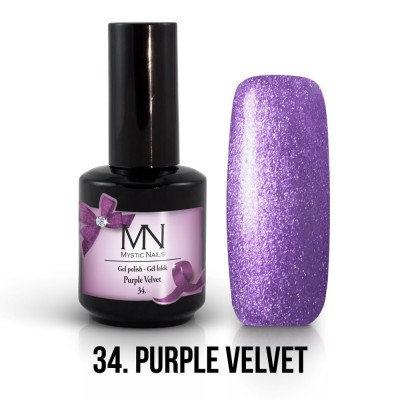 Gel lak - 34. Purple Velvet 12 ml