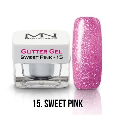 Glitter Gel - 15. Sweet Pink 4g