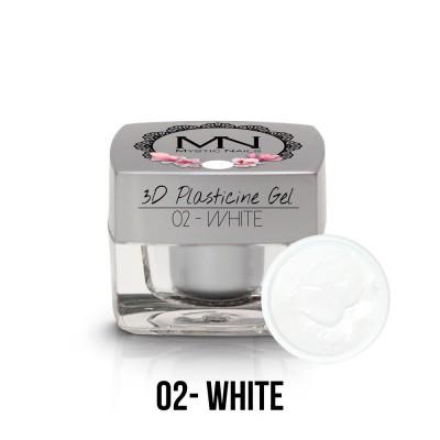 3D Plasticine Gel - 02. White 3,5g