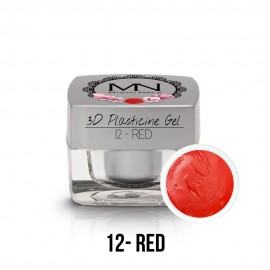 3D Plasticine Gel - 12. Red 3,5g