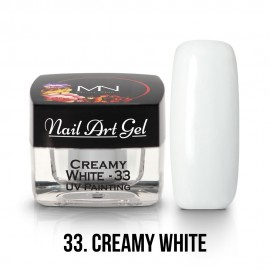 UV Painting Nail Art Gel - 33 - Creamy White 4g