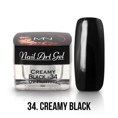 UV Painting Nail Art Gel - 34 - Creamy Black 4g