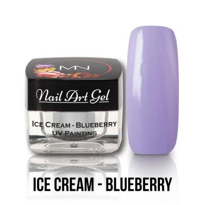 UV Painting Nail Art Gel - Ice Cream - Blueberry  4g