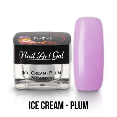 UV Painting Nail Art Gel - Ice Cream - Plum  4g
