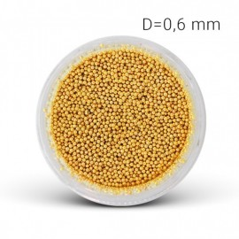 Mini perličky - zlaté (0,6mm)