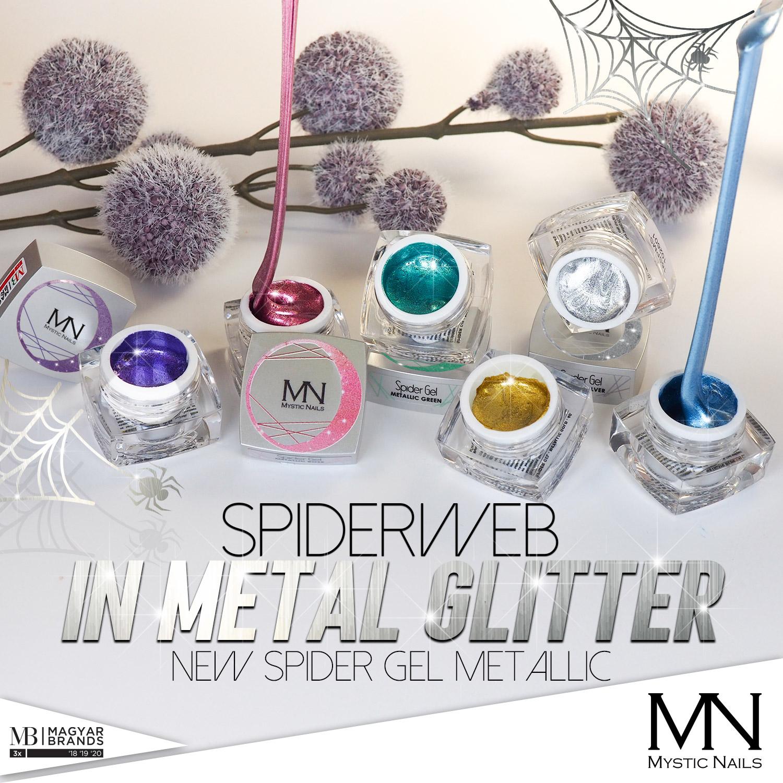 Metalické Spider Gely
