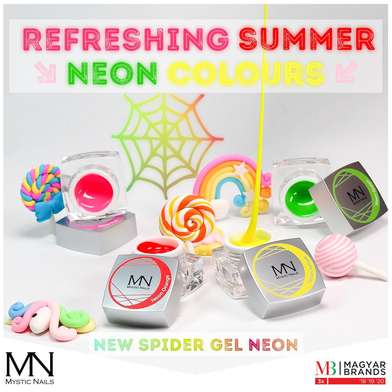 Nové odstíny spider gelů v neonových barvách